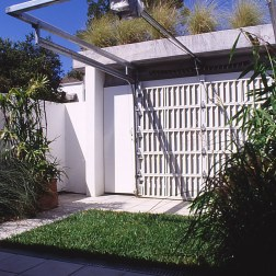 mitchinson_garden + garage door