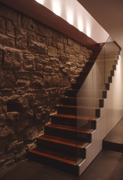 webster_10 stair + original sandstone wall