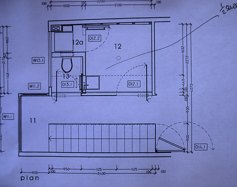 Williams Residence Bathroom - plan_Stephen Varady Photo ©