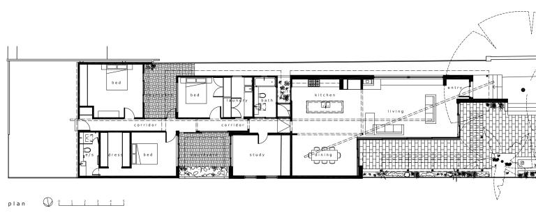 McEwin Pace Residence_plan_Stephen Varady Image ©