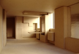 Perraton Apartment 04_model of living-dining-kitchen_Stephen Varady Photo ©