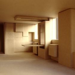 Perraton Apartment 04_model of living-dining-kitchen_Stephen Varady Photo ©