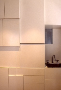 Perraton Apartment 23_kitchen detail_sculptural storage_Stephen Varady Photo ©