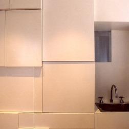 Perraton Apartment 23_kitchen detail_sculptural storage_Stephen Varady Photo ©