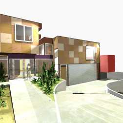 Fullagar Residence 02_3D_front (east) elevation_Stephen Varady Image ©