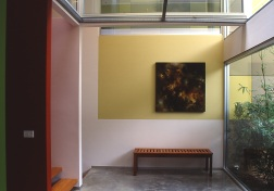 Fullagar Residence 06_entry with painted wall + Marika Varady painting_Stephen Varady Photo ©