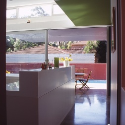 Fullagar Residence 11_view through kitchen to pool_Stephen Varady Photo ©