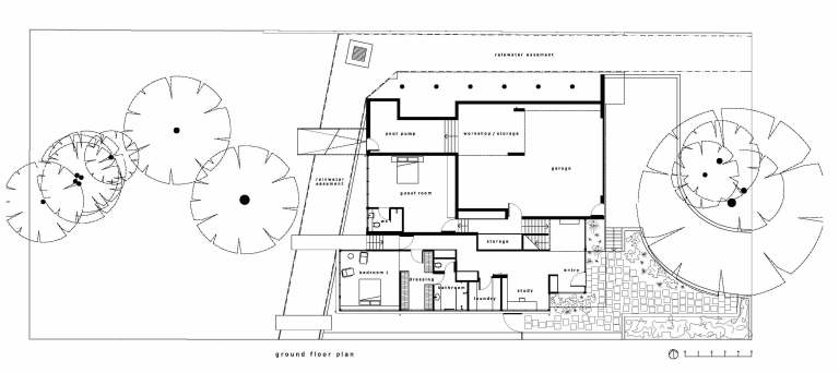 Fullagar Residence_plan 0_ground floor_Stephen Varady Image ©