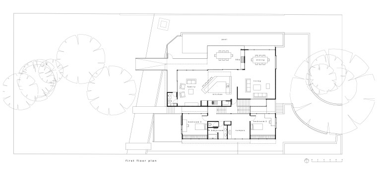Fullagar Residence_plan 1_first floor_Stephen Varady Image ©
