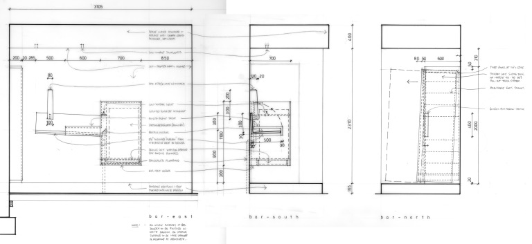 Green Residence_construction drawing_bar_Stephen Varady Image ©