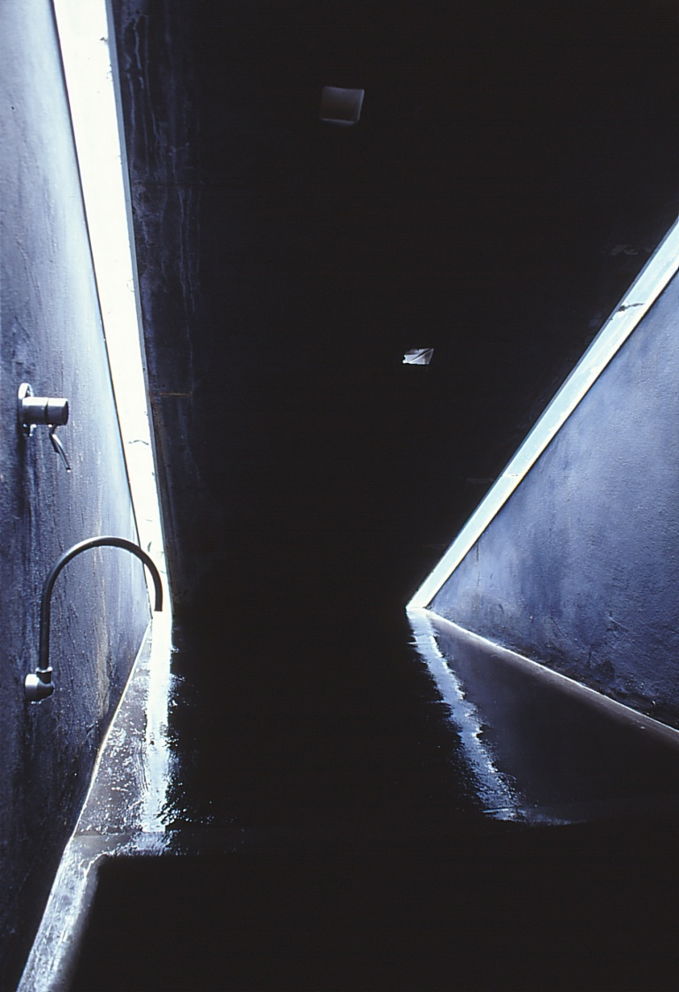 Larson Kelly Residence 45_grotto bath under entry stair 2_Stephen Varady Photo ©