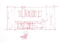 Larson Kelly Residence_kitchen sketch_Stephen Varady Image ©