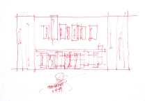 Larson Kelly Residence_kitchen sketch_Stephen Varady Image ©