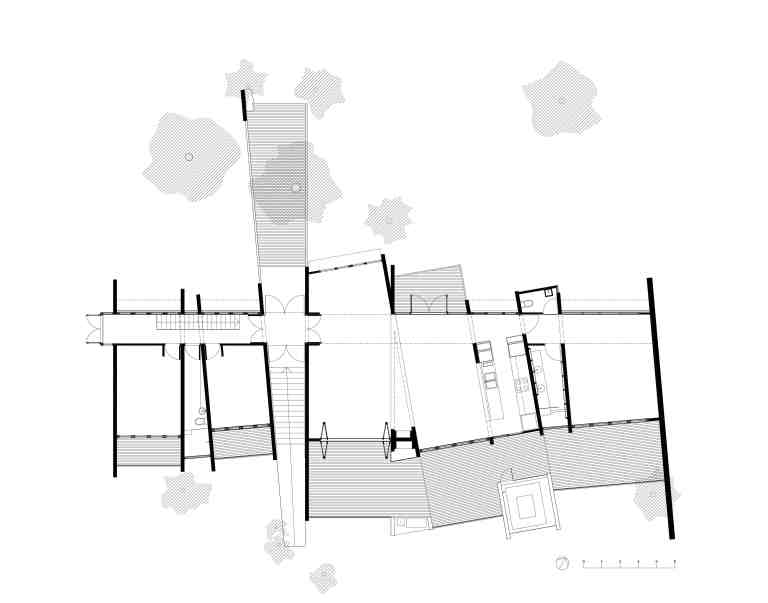 Larson Kelly Residence_plan 1_first floor_Stephen Varady Image ©