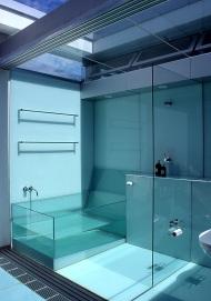 McCarthy Residence 32_en-suite_shower + glass bath_Stephen Varady Photo ©