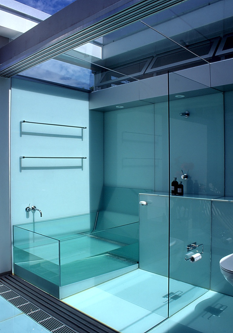McCarthy Residence 32_en-suite_shower + glass bath_Stephen Varady Photo ©