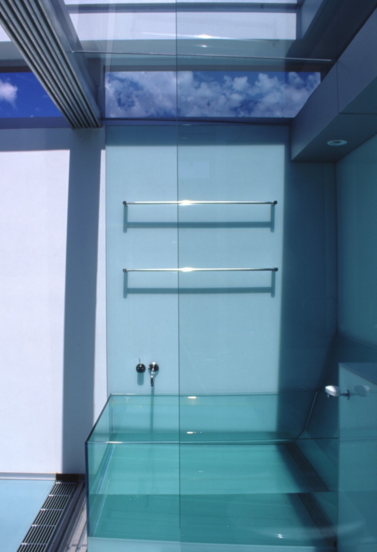 McCarthy Residence 37_en-suite_glass bath_Stephen Varady Photo ©