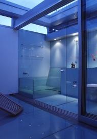 McCarthy Residence 38_courtyard + en-suite_dusk_Stephen Varady Photo ©