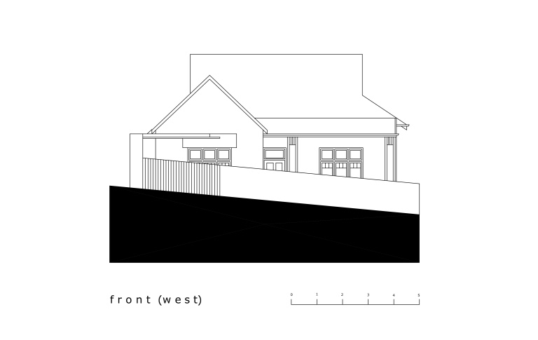 McCarthy Residence_elevation 1_front (west)_Stephen Varady Image ©