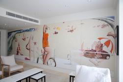 Nasteski Bondi Pacific Penthouse 09_entry after with 'Bondi Beach' by Brett Whiteley 3_Stephen Varady Photo ©