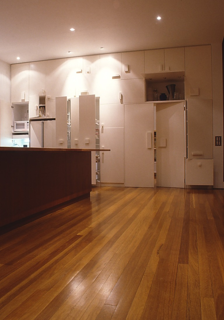 Slobom Residence #1_15_kitchen joinery_open_Stephen Varady Photo ©