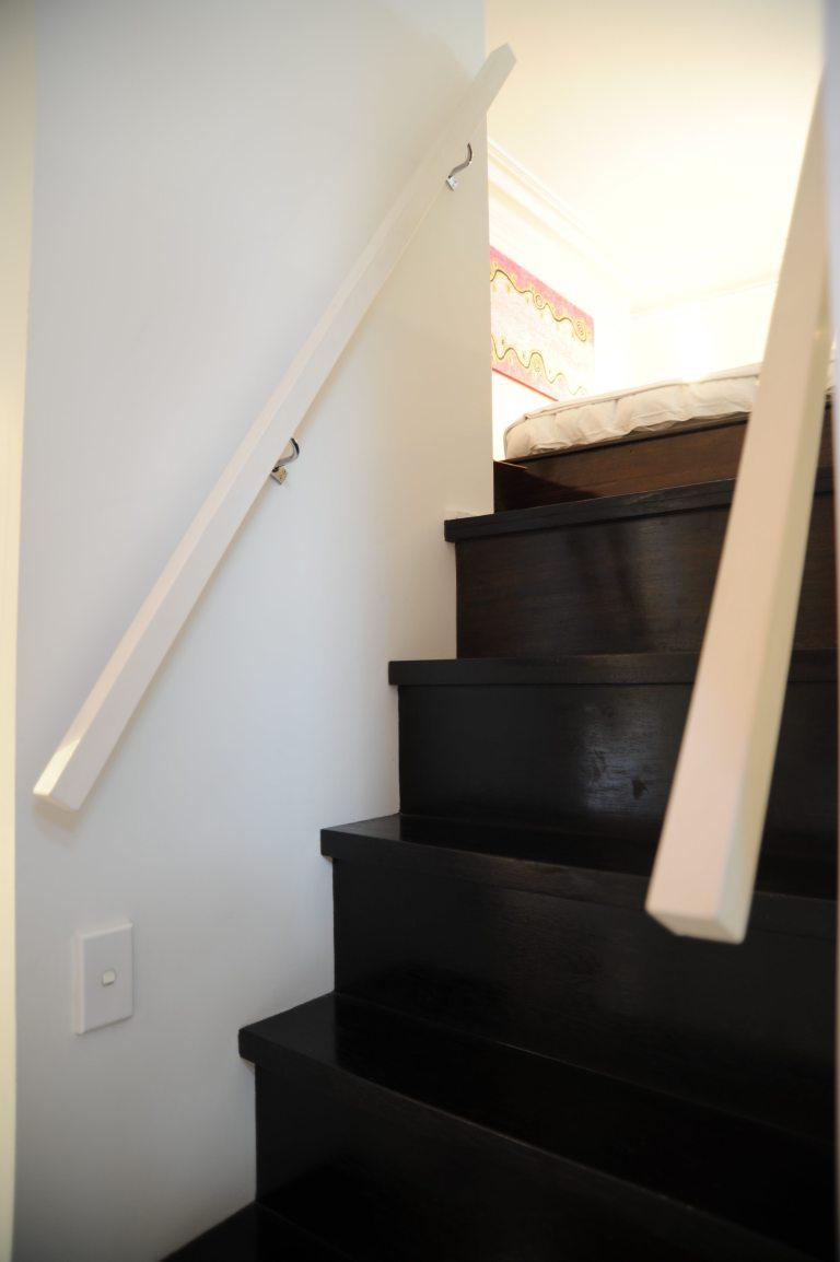 Hynes Apartment 14_stair to mezzanine bedroom 2_Stephen Varady Photo ©