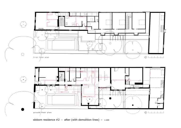 Slobom Residence #2_plans 5_before+after comparison 2_Stephen Varady Image ©