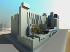 beirut house of arts + culture 04_west elevation