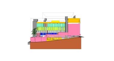 beirut house of arts + culture_sketch design_07_west elevation