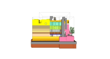 beirut house of arts + culture_sketch design_08_north elevation
