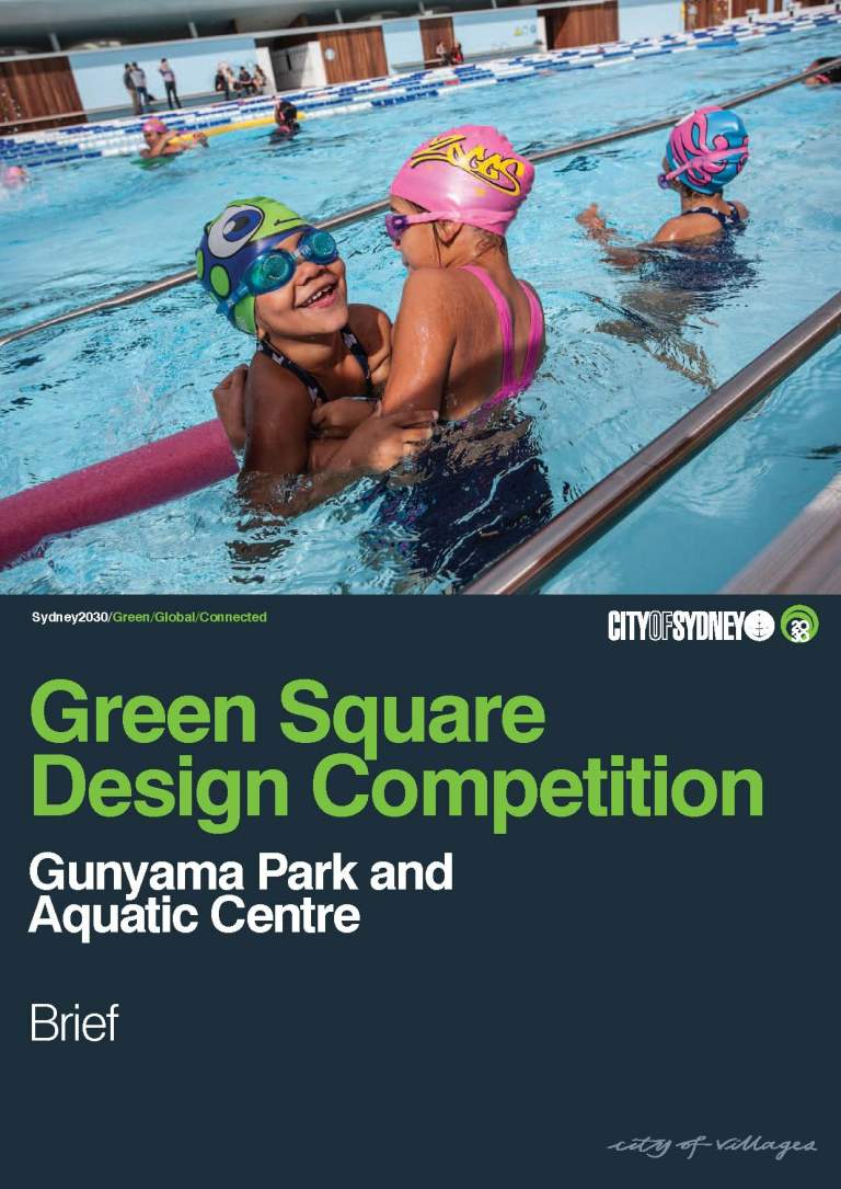 gunyama park and aquatic centre competition_brief cover