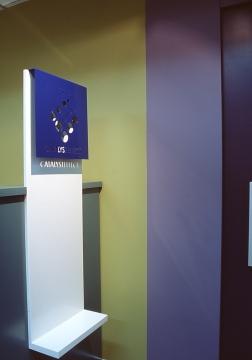 Catalyst Effect Office 13_Reception Sign_Stephen Varady Photo ©