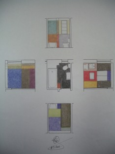 Porter Apartment_colours 01_pencil sketch_Stephen Varady Photo ©