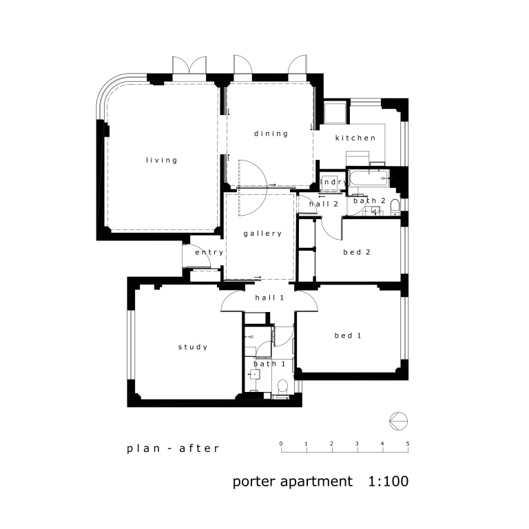 Porter Apartment_plan2_after_Stephen Varady Image ©