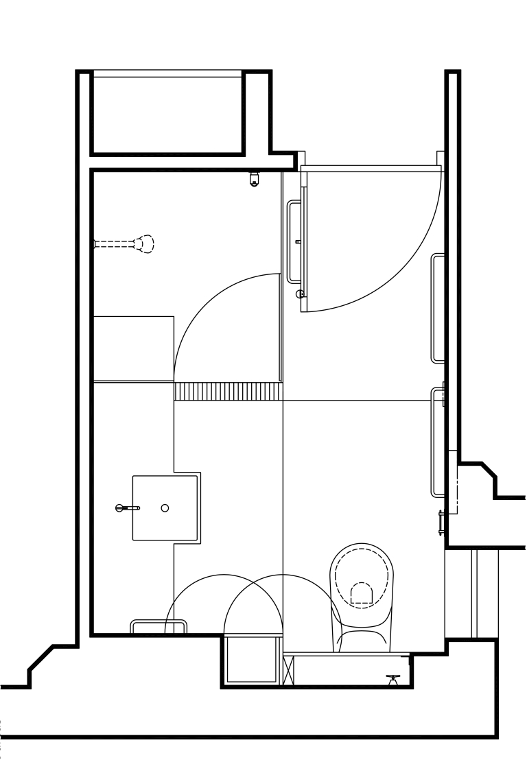 Porter Apartment_plan_bathroom 1_Stephen Varady Image ©
