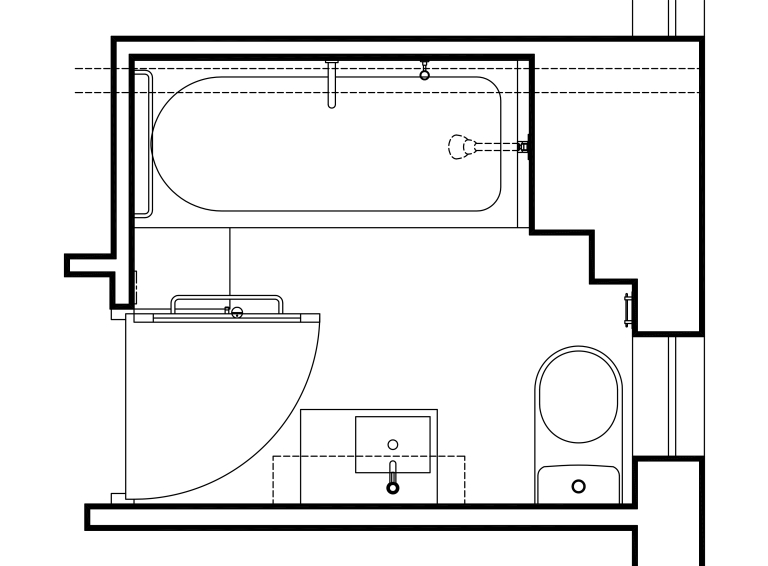 Porter Apartment_plan_bathroom 2_Stephen Varady Image ©